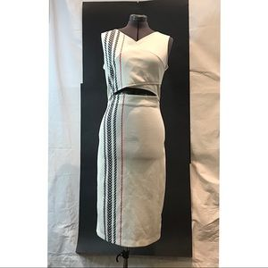 Kiind Of White Cut-Out Sleeveless Dress,L